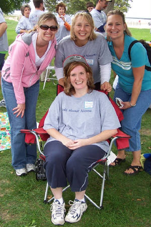 from left: Kathy, Chrissy, Tracy and Aimee (seated)